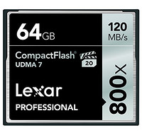 Lexar 雷克沙 Professional 800x 64GB CF存储卡